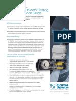 Duct Detector Testing Maintenance Flyer Hvfl184