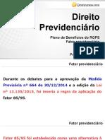 Fator Previdenciário 85 95