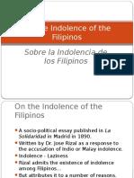 191921208 Sobre La Indolencia de Los Filipinos
