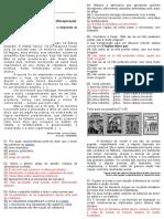 Avaliação de Língua Portuguesa - I Bimestre (8º Ano) Rec.