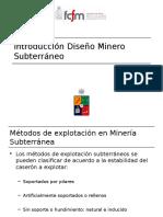 Introducción Diseño Minero Subterráneo