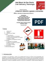 Seguridad industrial de solventes y gases