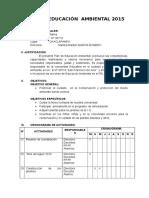 Plan de Educación Ambiental 2015