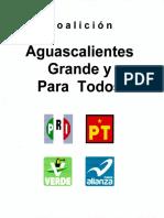 Convenio de coalición Aguascalientes Grande y para todos