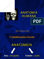 Aula 1 - Introdução à Anatomia