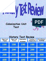 Colonization Unit Test Jeopardy Review