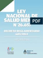 Ley 26657 Nacional Salud Mental