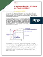 Curvas de Magnetizacion y Relacion de Trasformacion