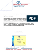Carta - Curso de Speaking