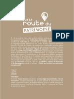 Carnet de Route Patrimoine 2016