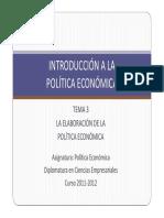 Tema 3 La Elaboración de La Política Económica