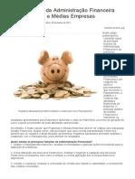 A Importância Da Administração Financeira Nas Pequenas e Médias Empresas - Artigos de Administração e Gestão - Portal Educação