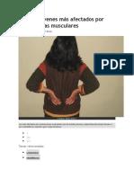 Adultos Jóvenes Más Afectados Por Contracturas Musculares