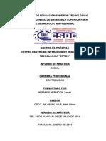 informe de practica - contabilidad