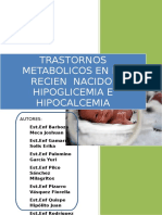 Trastornos Metabolicos Del Rn-hipoglucemia e Hipocalcemia