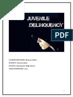 JUVENILE DELIQUENCY IN COMMUNITY
