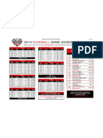2010 Kickball Game Schedule 4-26-10