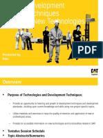 Development Techniques& New Technologies