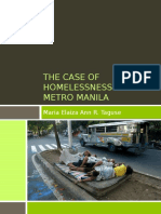 The Case of Homelessness in Metro Manila