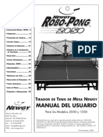 Manual Donic Robopong en Castellano