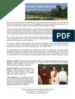 Metta Retreats In Burma 2017