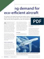 Growing Demand for Eco Efficient Aircraft 2012 Reinforced Plastics