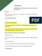 Bir COR Application Requirements
