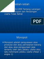 Istilah Anti Monopoli