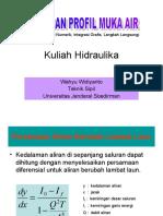 Kuliah Hidraulika Hitungan Profil Muka Air1