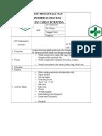 6. Sop Penggunaan Dan Pemberian Obat Dan Atau Cairan Intravena