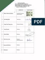 Daftar Hadir RUPSLB 2015