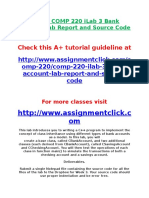 DEVRY COMP 220 ILab 3 Bank Account Lab Report and Source Code