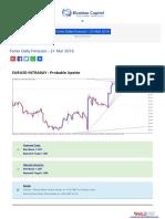 Forex Daily Forecast - 21 Mar 2016 BlueMax Capital