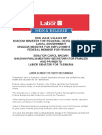 Labor is Ready to Fight For Tasmania