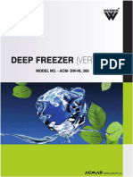 Low Temperature Deep Freezer