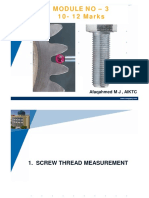 Gear and Screw measurement