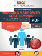 Reducing Manpower Costs Flyer