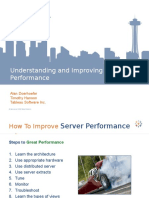 Understanding and Improving Tableau Sever Performance 2009