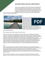 Teknik Wisata Murah pada Pantai Sawarna Lebak Banten