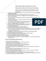 Biology 4B Study Guide for Lab Exam 4