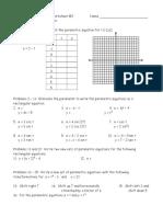 Parametric Worksheet