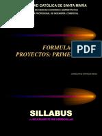 Primera Fase Form Proy