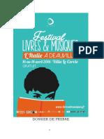 Livres&Musiques à Deauville du 16 au 18 avril 2016