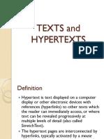 PPT - Texts and Hypertexts