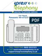 Panasonic Kx-ut1user Guide 1