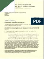 Letter From Bernard Jenkin to Jeremy Heywood 08-03-16