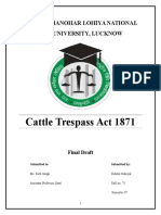 Cattle Trespass Act 1871