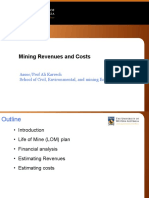 3 - Mining Revenues and Costs
