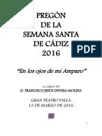 Pregón de Jesús Devesa. Semana Santa 2016
