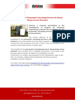 Propellants for Pneumatic Conveying Process in Dense Phase at Low Pressure